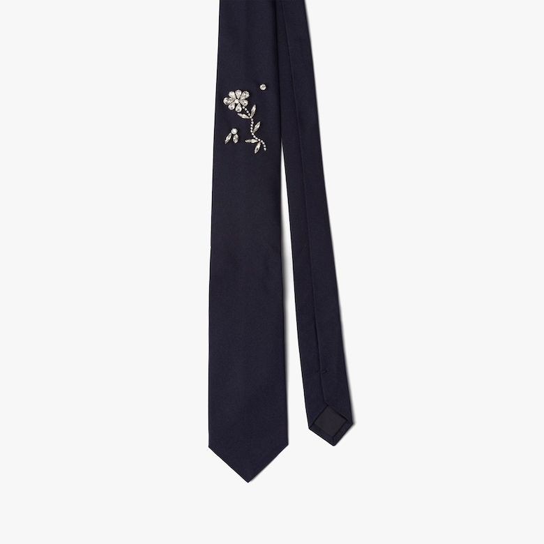 Printed micro faille tie