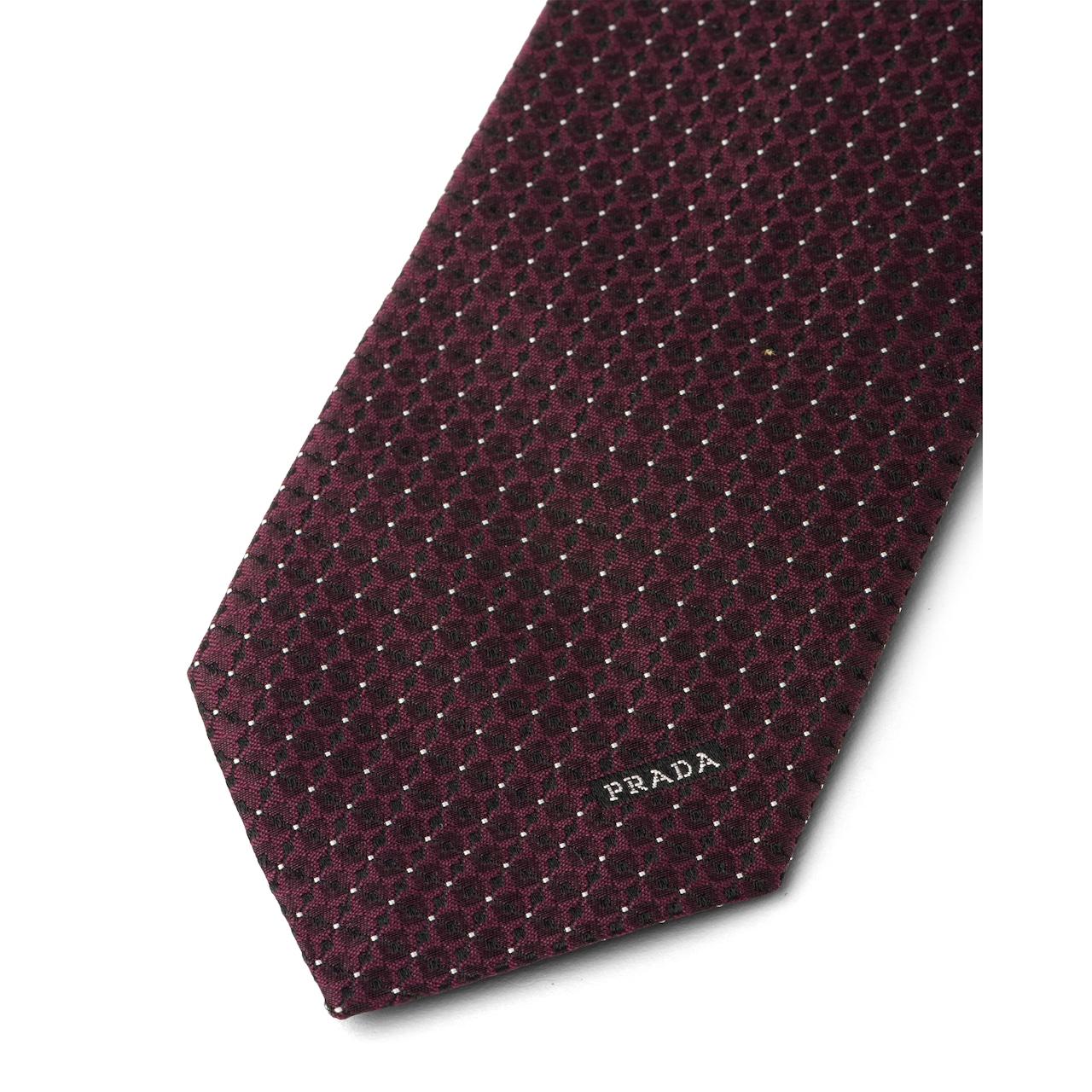 Prada 丝质斜纹领带 3