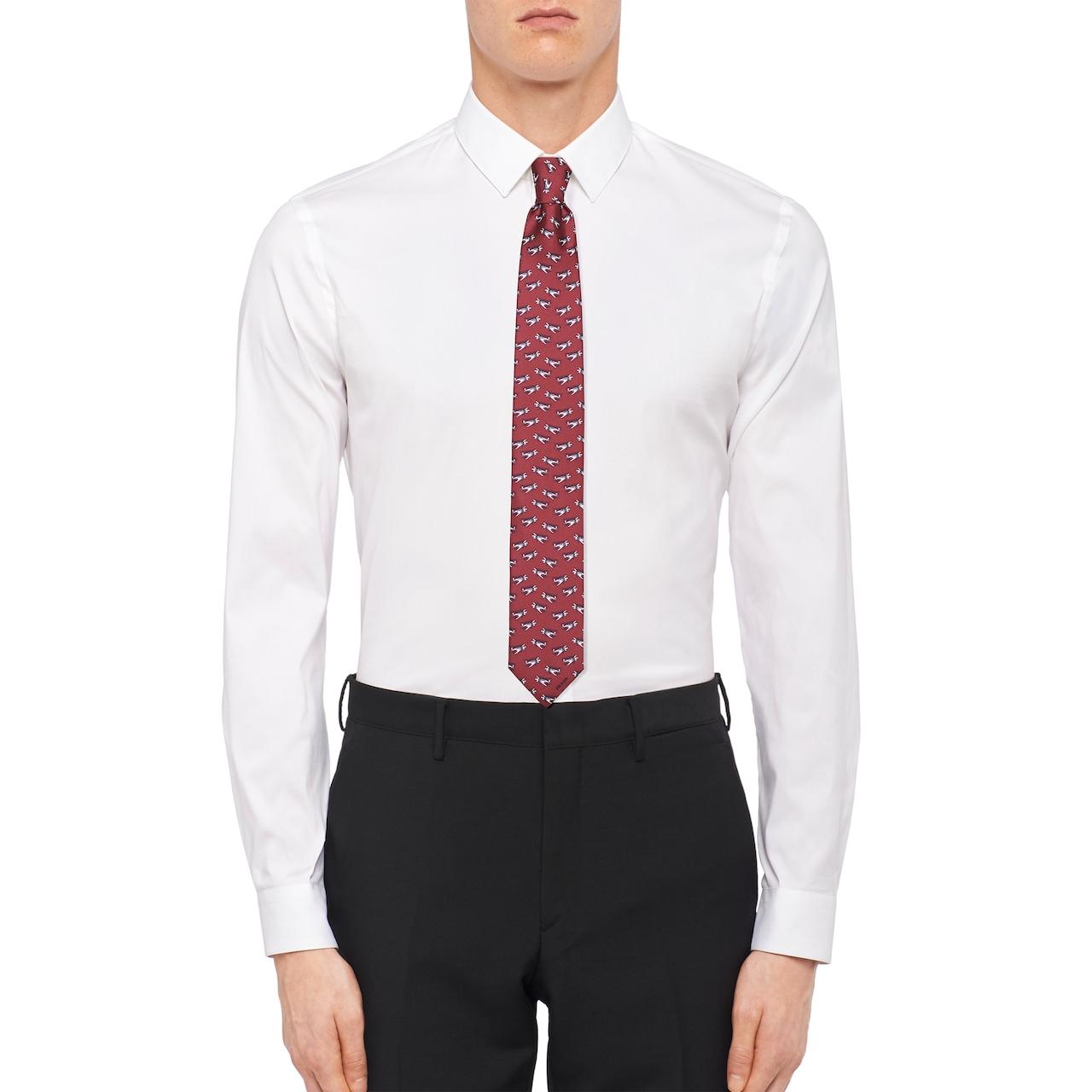 Prada 印花斜纹绸领带 2
