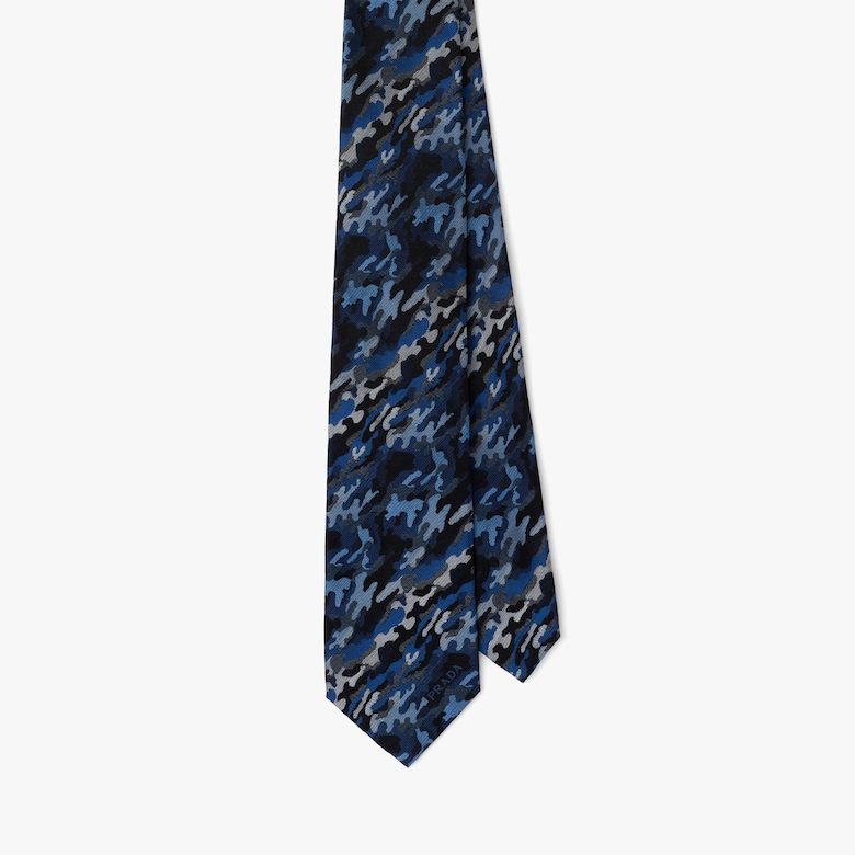 Prada Corbata de seda de jacquard - Hombre