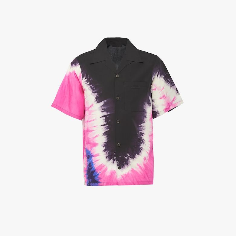 Shirt with tie-dye print