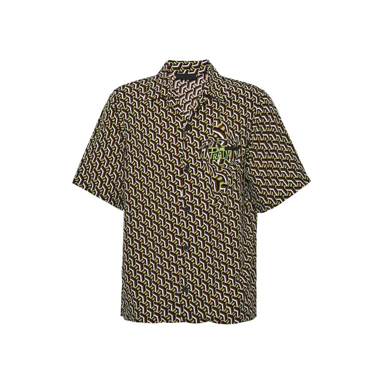 Short-sleeved pongé shirt
