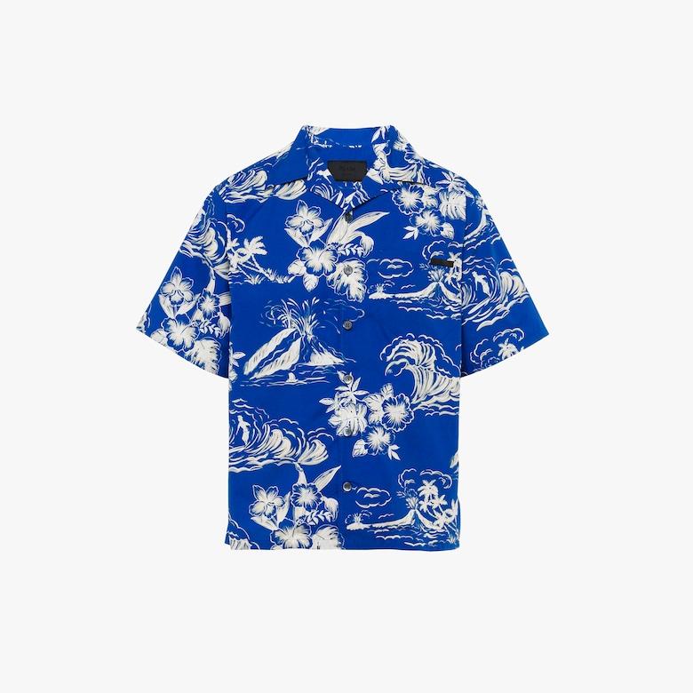 Prada Printed cotton poplin shirt - Man