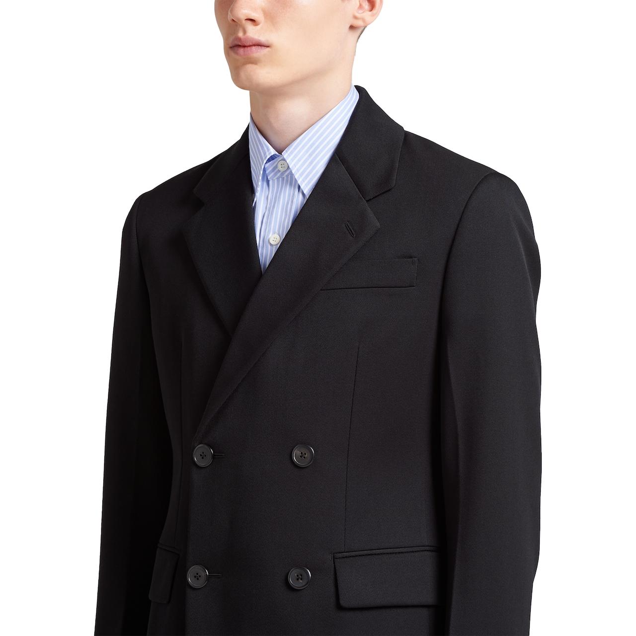 Prada Double-breasted cotton gabardine jacket 5