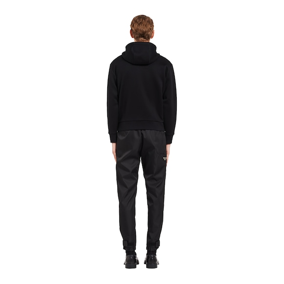Prada Technical cotton and nylon gabardine sweatshirt 4