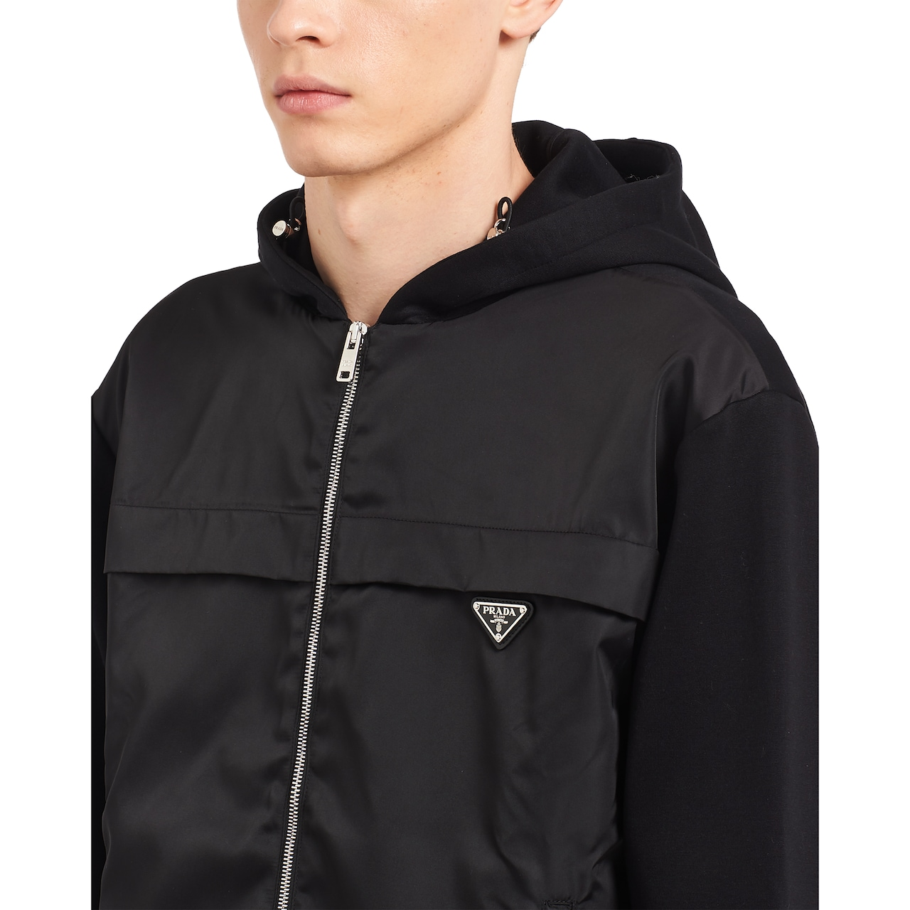 Prada Technical cotton and nylon gabardine sweatshirt 5
