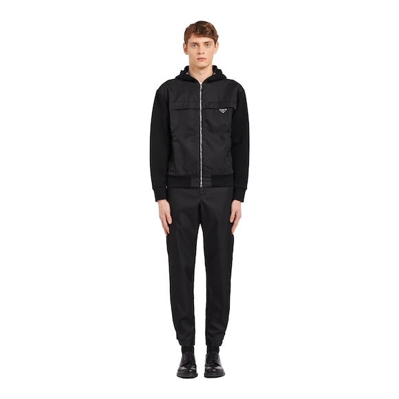 Prada Technical cotton and nylon gabardine sweatshirt 3