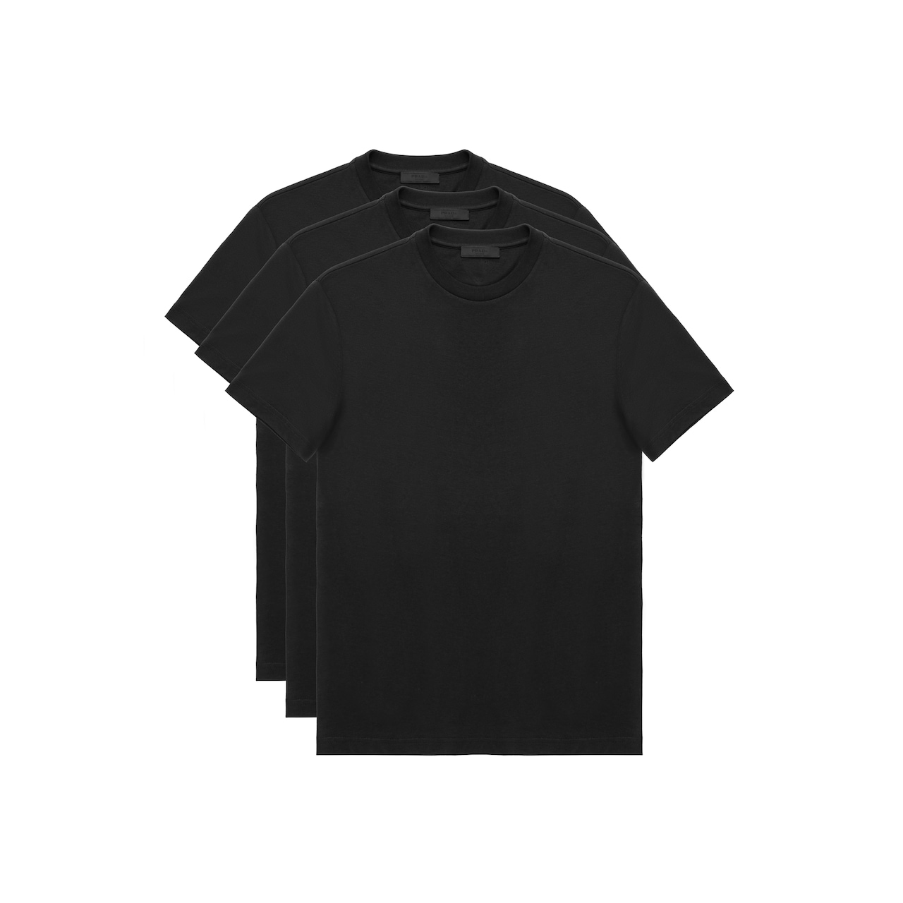 Prada Three Pack Cotton Jersey T-Shirts 1
