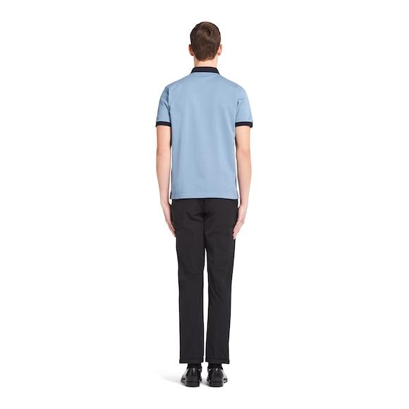 Prada 双色珠地棉Polo衫 4