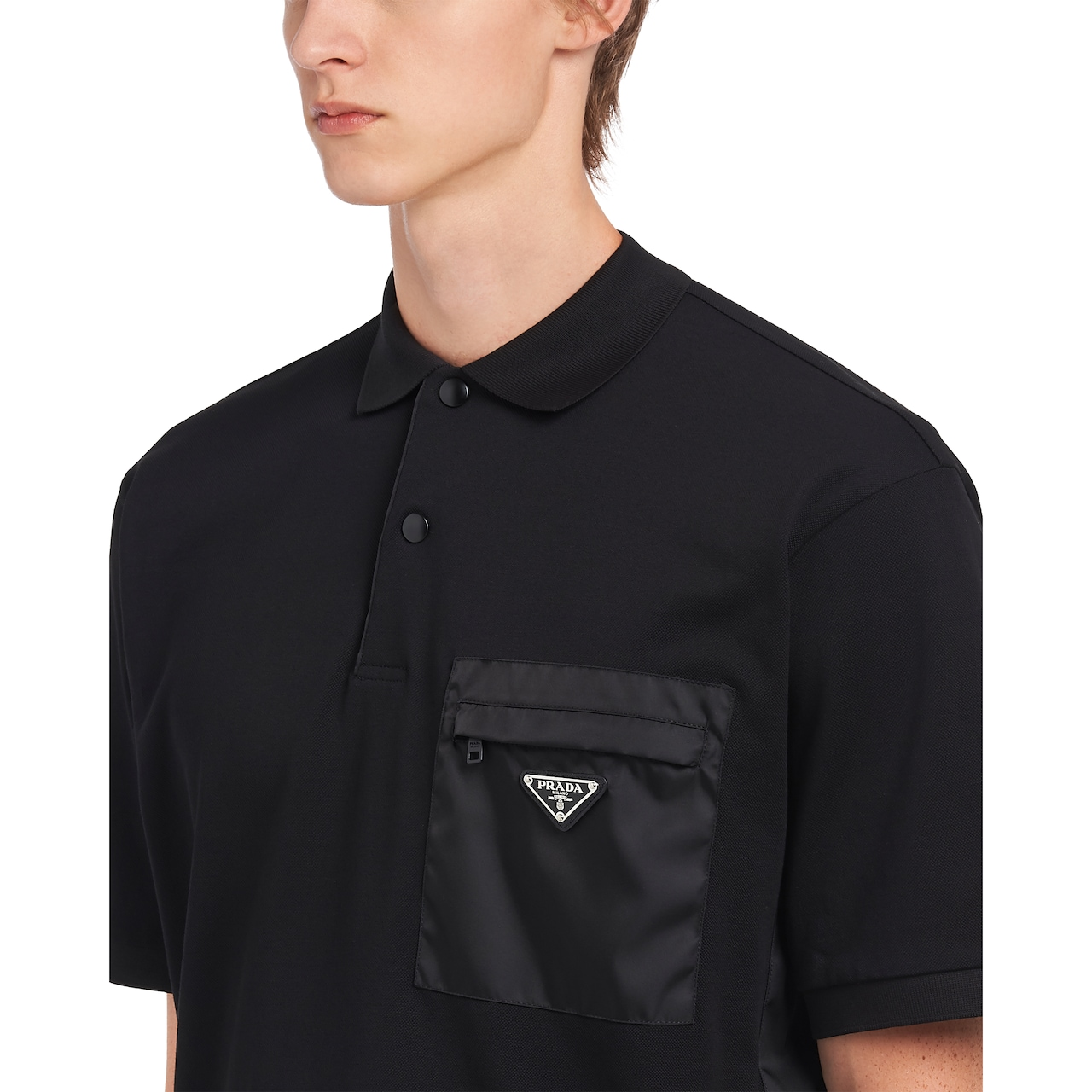 Prada Cotton piqué polo shirt with inserts 5