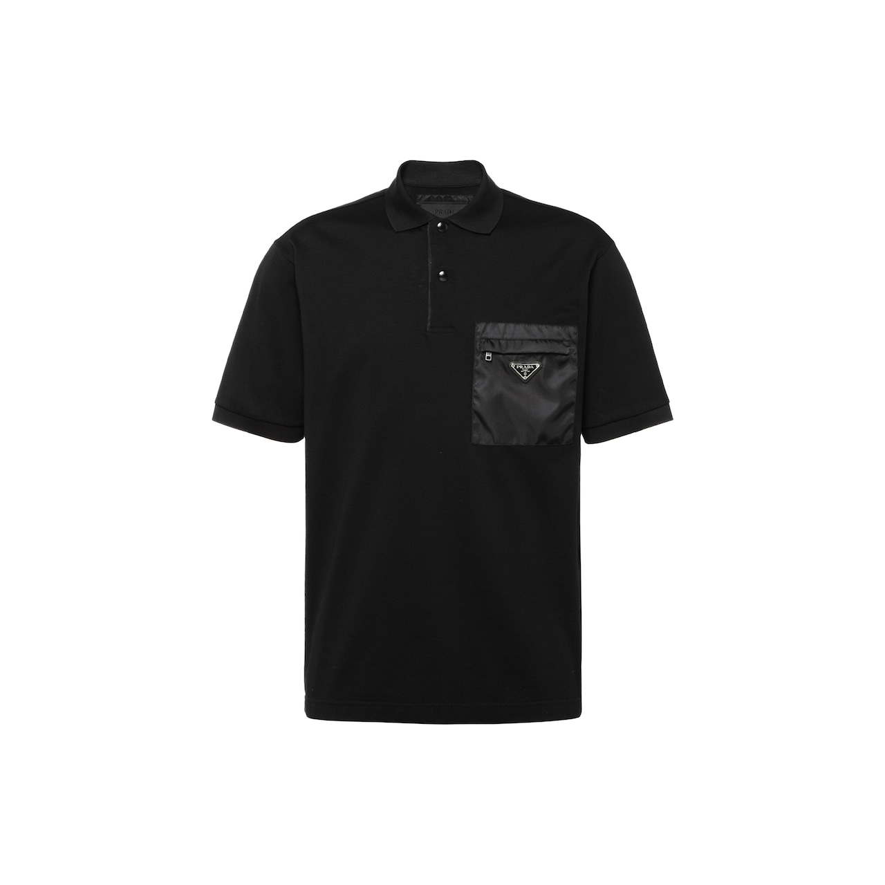 Prada Cotton piqué polo shirt with inserts 1