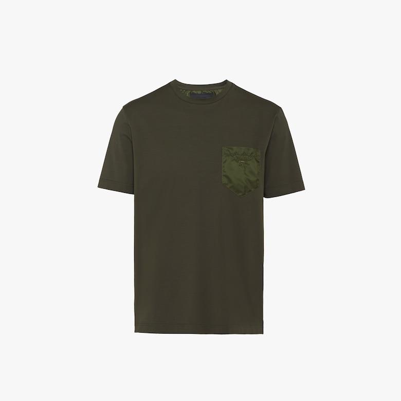 弹力棉质和尼龙T恤