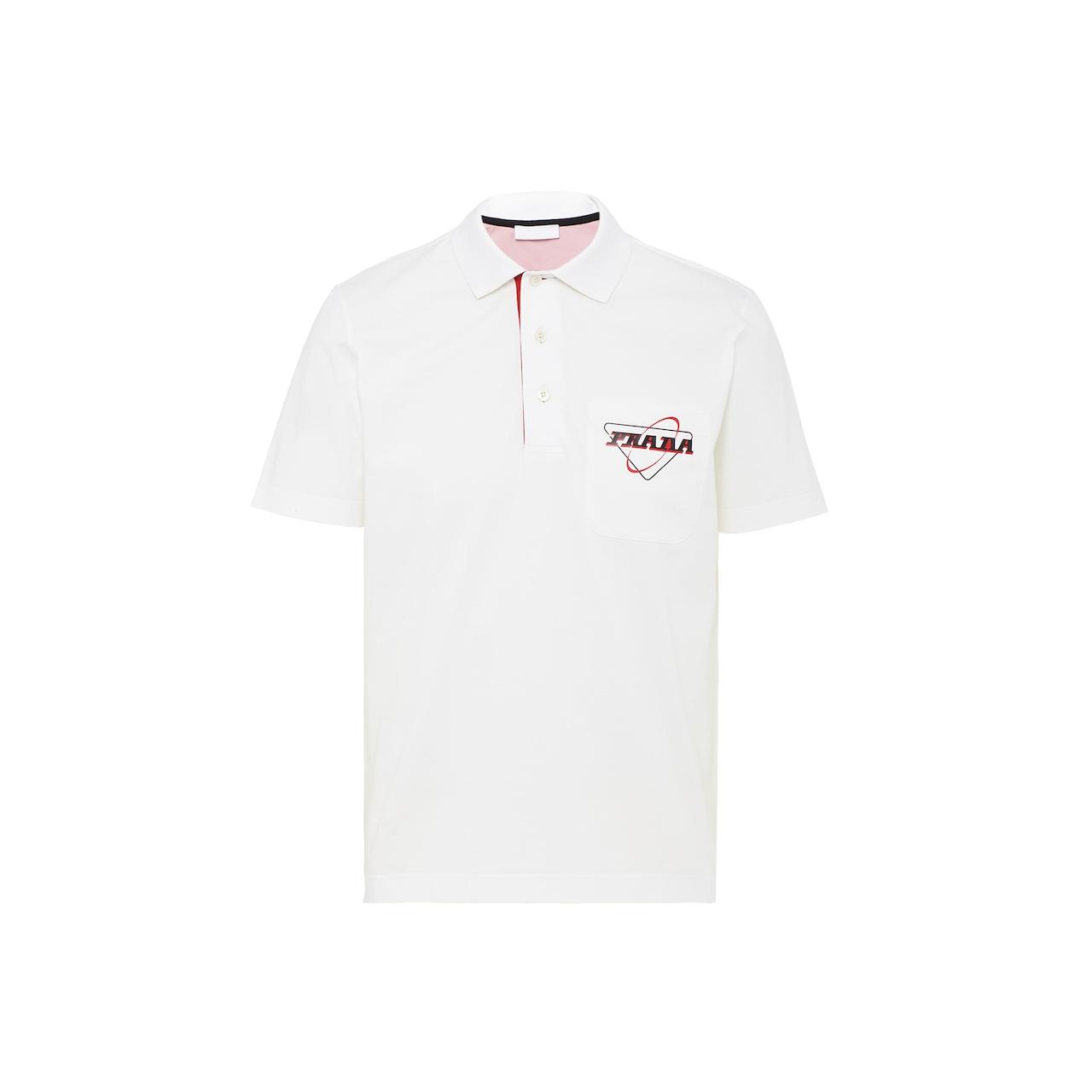 Prada 弹力棉Polo衫 1