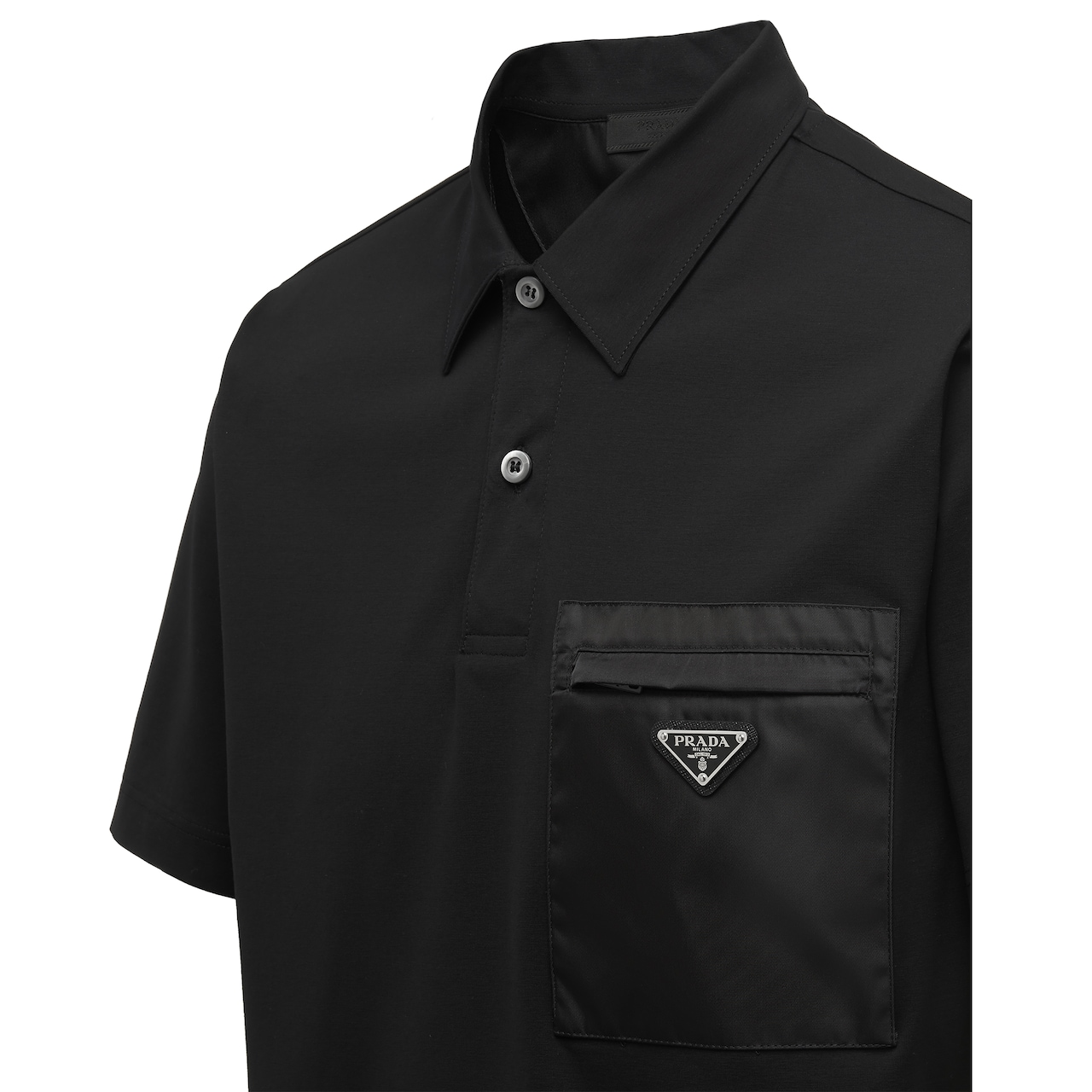 Short-sleeved stretch cotton polo shirt 3
