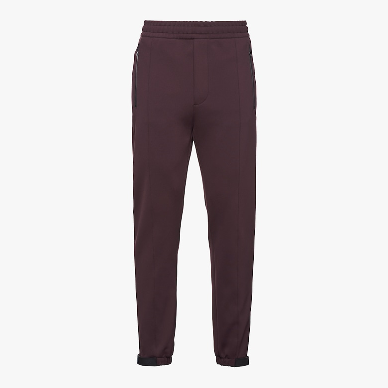 Prada Technical cotton fleece trousers - Man