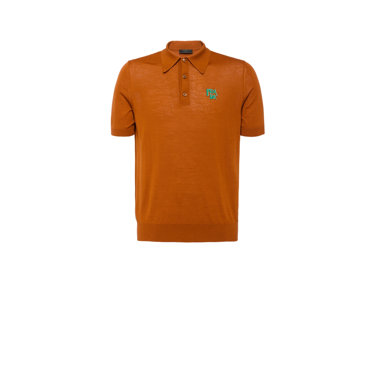 Wool polo shirt with logo
