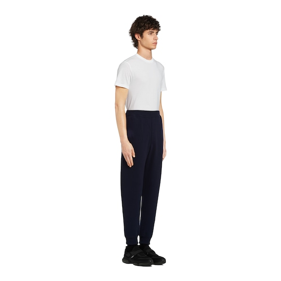 Wool and cashmere jogging pants