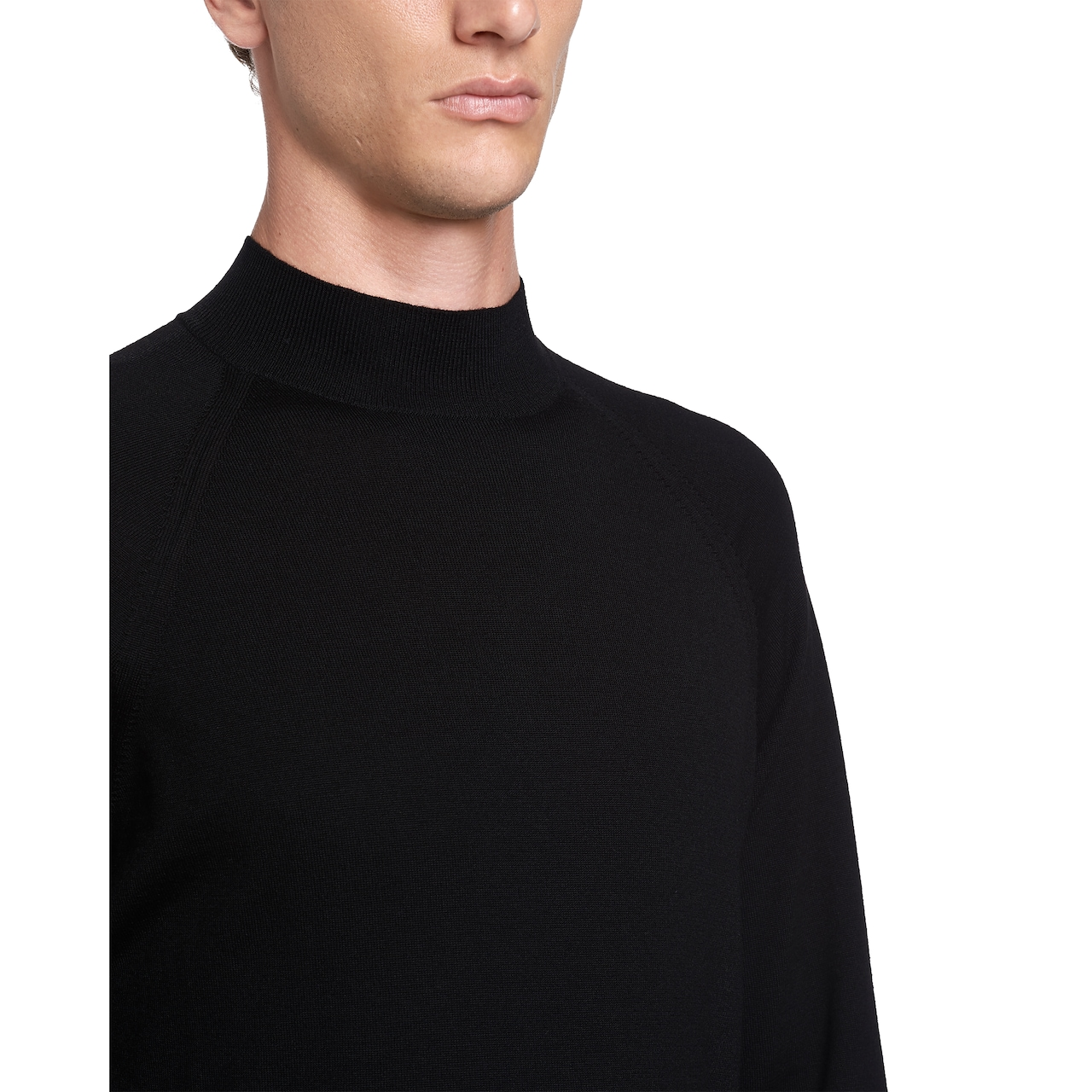 Worsted wool turtleneck sweater 5