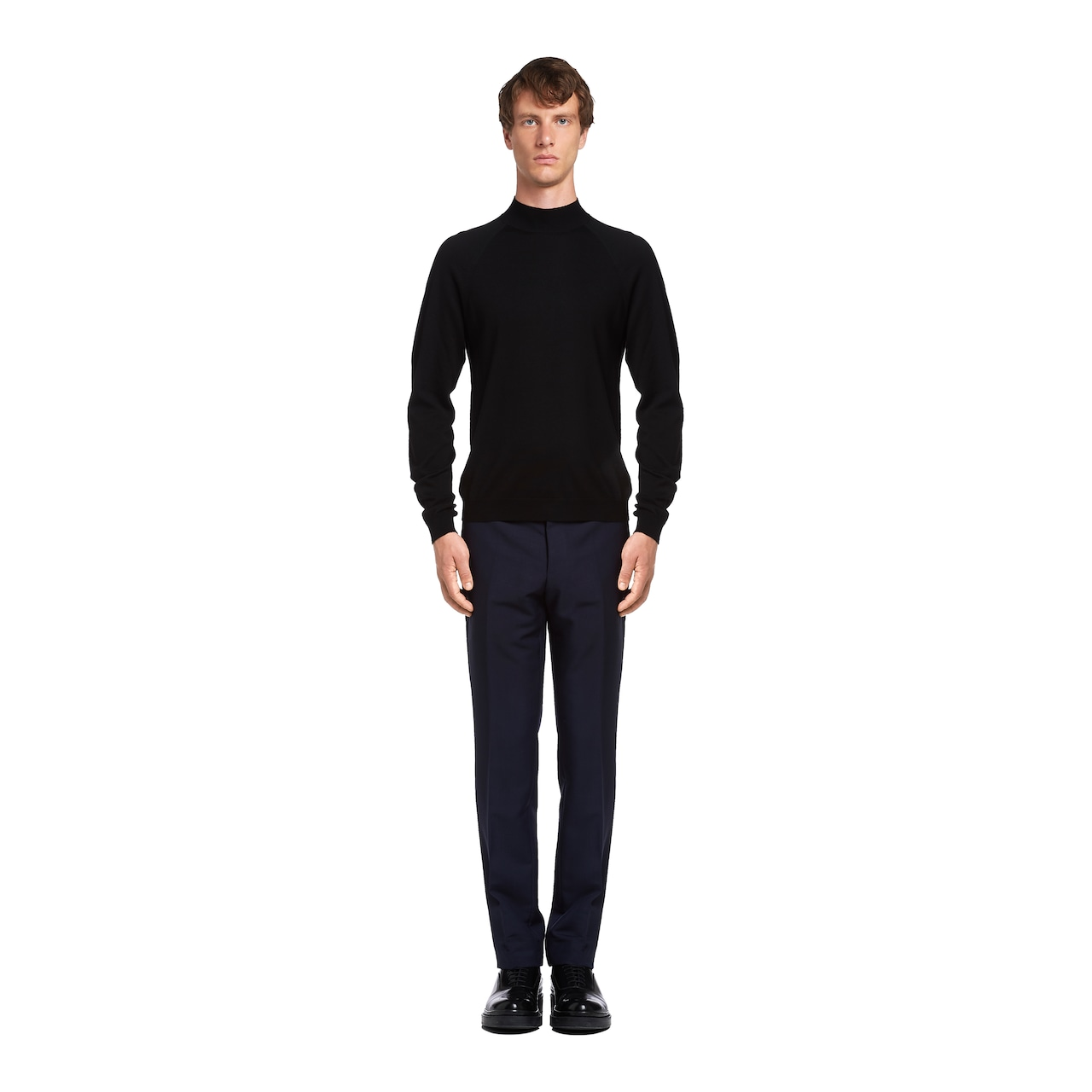 Worsted wool turtleneck sweater 2