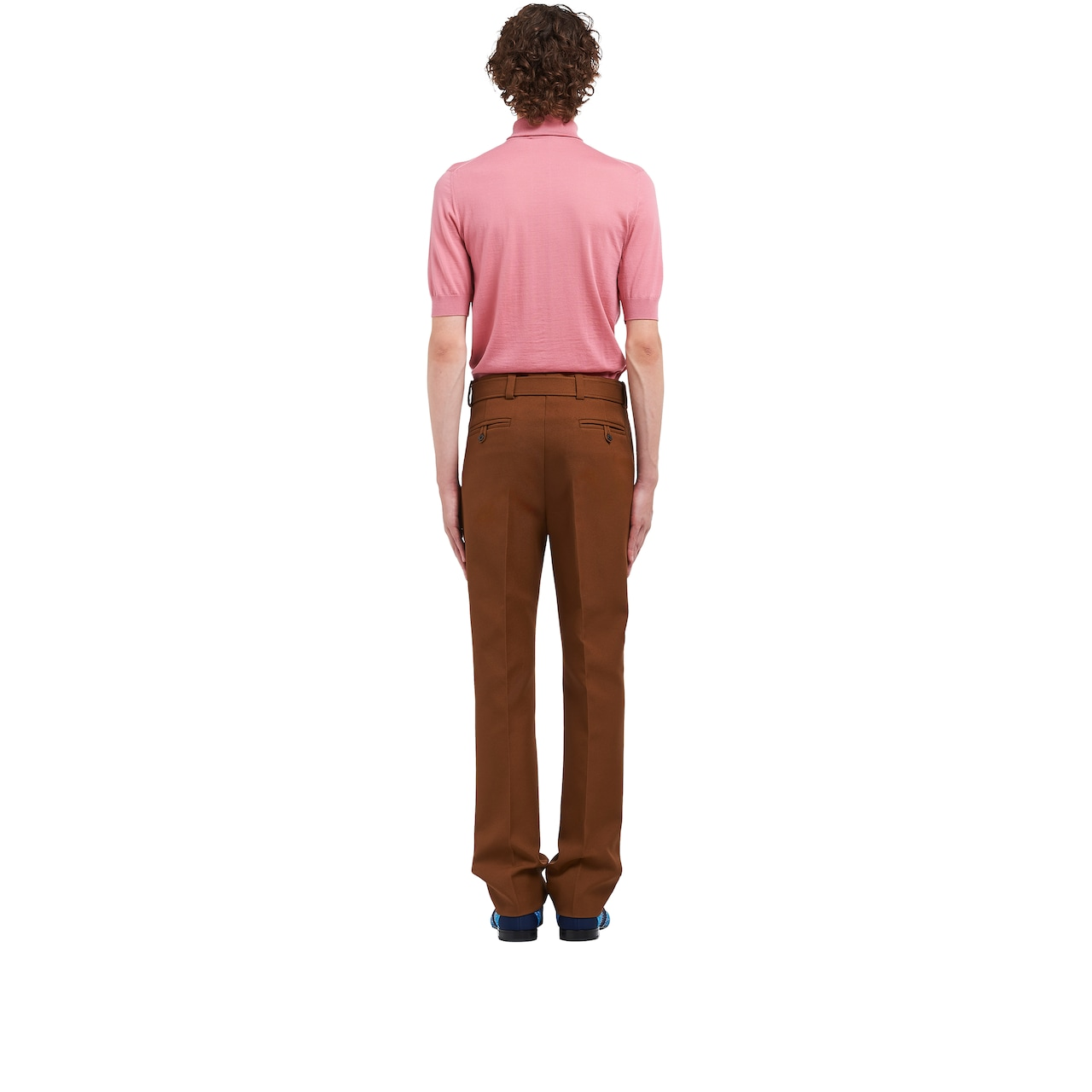 Trousers with patch