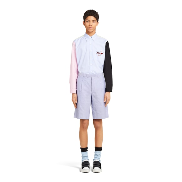 Prada 牛津棉百慕大短裤 3