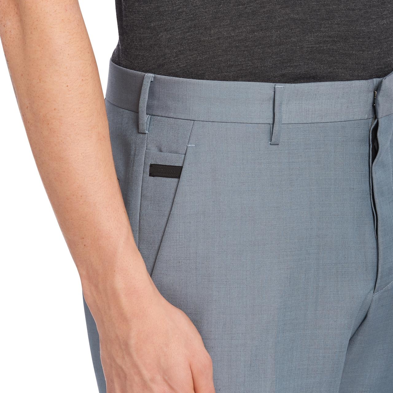 Light mohair trousers