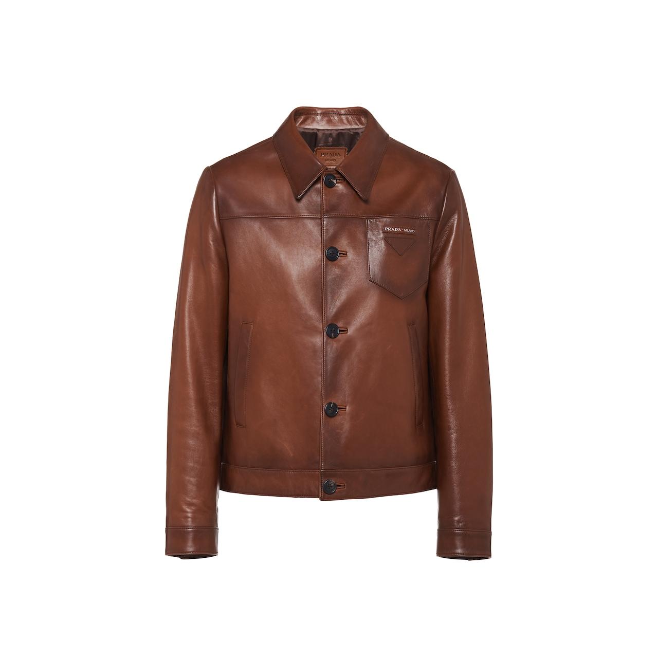 Jacke aus gewachstem Nappa-Leder