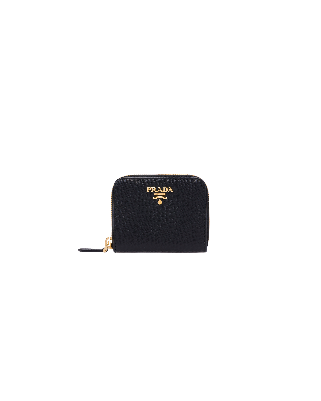 Prada Small Saffiano Wallet - Schwarz