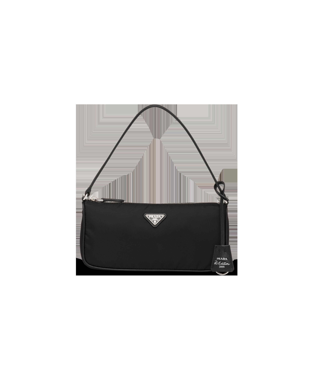 Mini sac Prada Re Edition 2005 en nylon et cuir saffiano