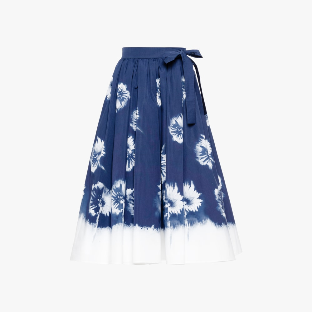 Prada Printed poplin skirt 1