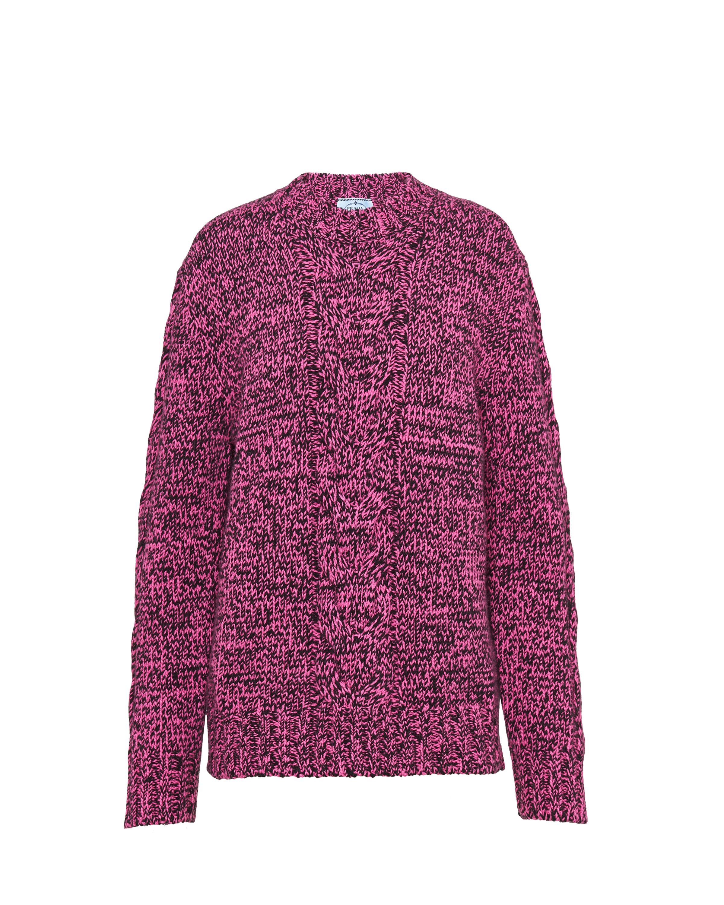 Wool and cashmere crew neck sweater